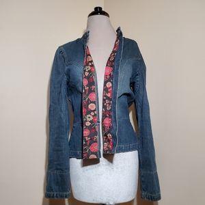 INC International Concepts Denim and Floral Jacket